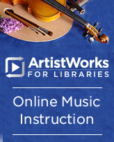 image of ArtistWorks for Libraries logo
