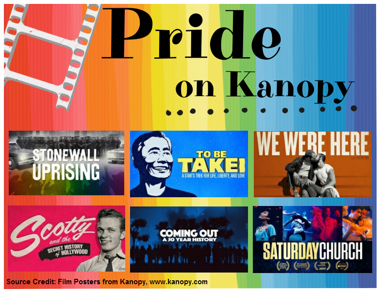 Pride films on Kanopy