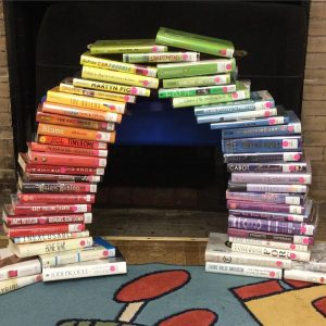 Rainbow of books