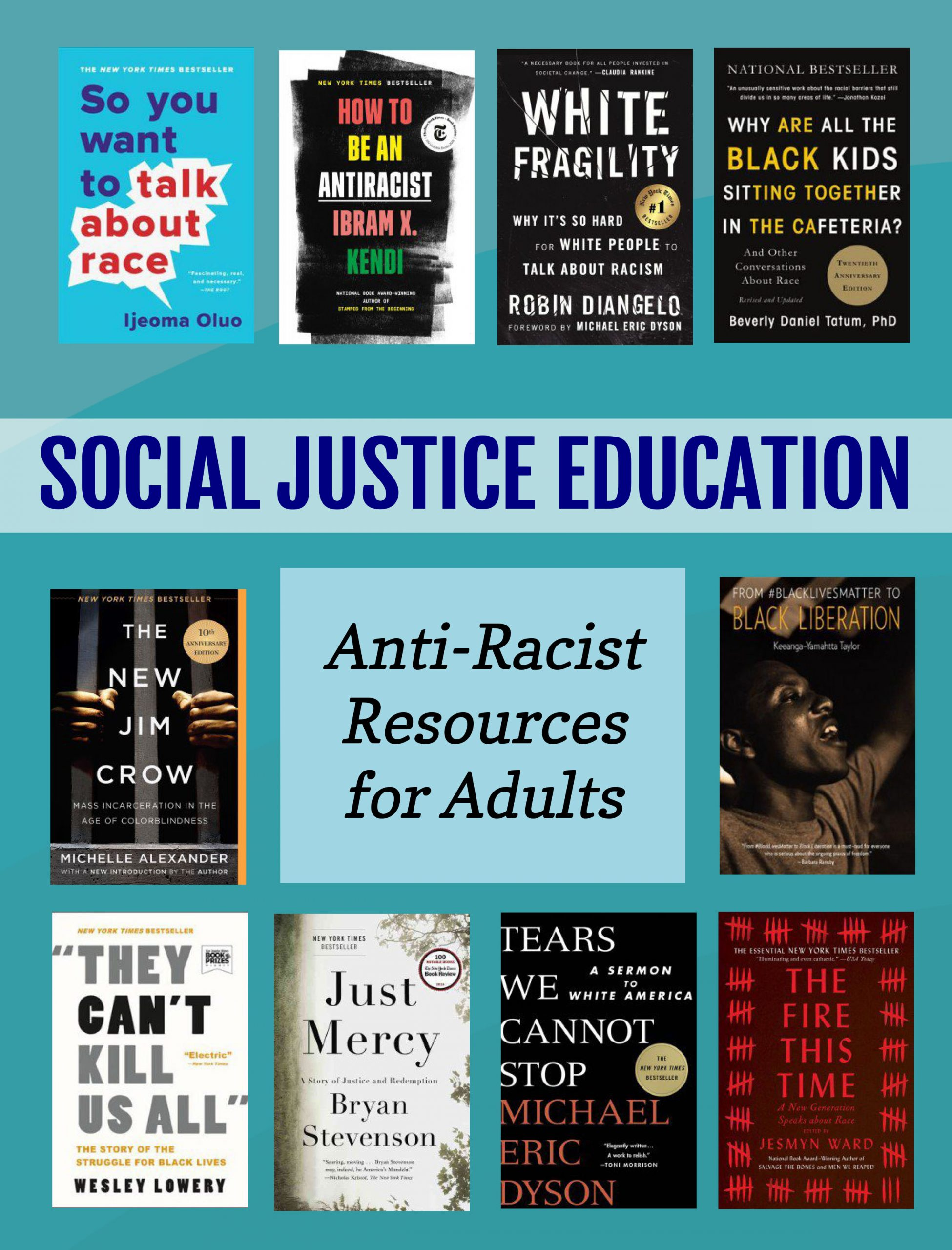 image of social justice educational books for adults