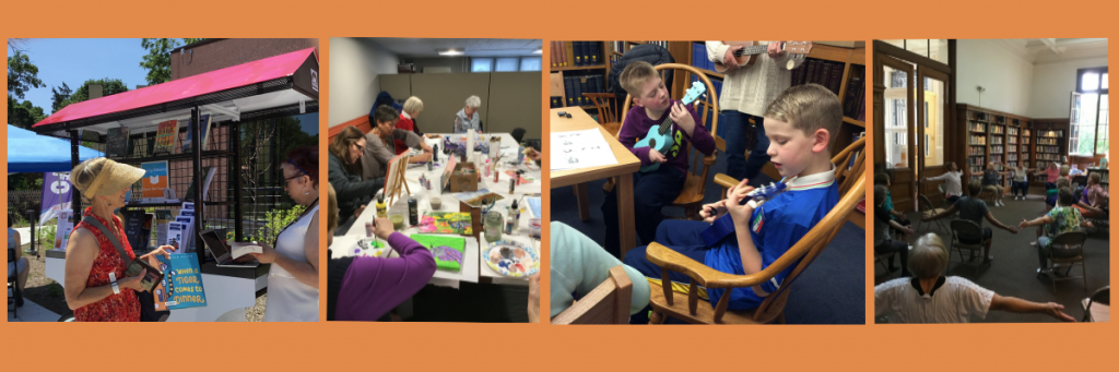 A collection of Friends of the Seymour Library's funded events and programs.